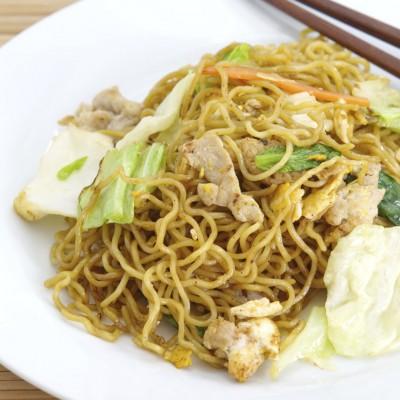 Hoisin Pork with Garlic Noodles