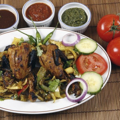 Kebab Sampler Tandoori Quail