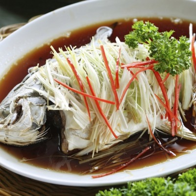 Steamed Thai Style Whole Snapper
